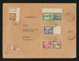 D. Reich R Brief Zusammendruck WHW Bauten Woldenberg Neum Nach Altdamm - Se-Tenant