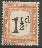 South Africa - 1924 Postage Due 1.5d Error POSTADE MH *   SG D13v  Sc J13v - Postage Due