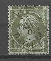 N° 19 Cachet HOTEL DE VILLE OBL TB - 1862 Napoleone III