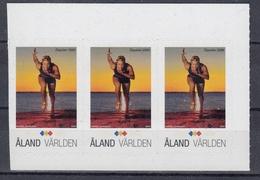 "+Åland 2009. ""My Stamp"". Athletics. Sport. Stripe Of 3. Michel 314. MNH(**) - Aland"