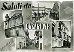 CASAGIOVE  CASERTA  Saluti Da..  Vedutine  Chiesa Municipio Vie Pontillo E Lovara - Caserta