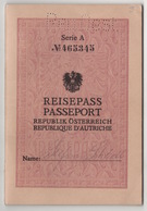 1933 REISEPASS PASSEPORT REPUBLIK OSTERREICH 48 PAGES - Historical Documents