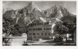 LERMOOS HOTEL POST MIT MIEMINGERGRUPPE-SONNENSPITZE-VIAGGIATA 1940-REAL PHOTO - Lermoos
