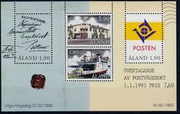 +Åland 1993. Post In Åland. Bloc. Michel 2. MNH(**) - Aland