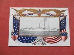 Embossed    Border Frame   US Cruiser Chicago    Ref 3422 - Warships