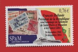 WP14  ++ 2014  St Pierre Et Miquelon Ralliement France Libre 1123 - St.Pierre Et Miquelon