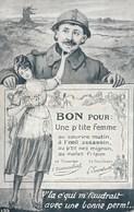 Poilu - Bon Pour Une P'tite Femme - V'la C'qui M'faudrait Avec Une Bonne Perm!... - Humour
