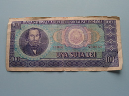 UNA SUTA LEI - H.0053 ( 850669 ) Balcescu Nicolae > Banca Romania ( For Grade, Please See Photo ) ! - Roumanie