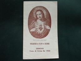 SANTINO HOLY PICTURE IMAGE SAINTE  SACRO CUORE DI GESU' FESTA DI CRISTO RE 1955 - Religione & Esoterismo