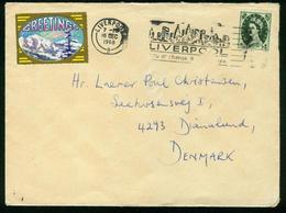 Br Great Britain Cover Sent To Denmark | Liverpool 16.12.1968 - Brieven En Documenten