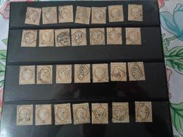Lot N°35 , Type Cerés Dentelé III éme République  ,gros Chiffre ,28 Timbres ,n°55 , Oblitérés  Charniéres - 1871-1875 Ceres