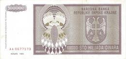 Croatia 100.000 Dinara 1993. P-R9 - Croatie