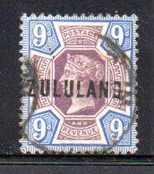 XP4614 - ZULULAND 1888 , Yvert N. 9  Usato (2380A) . - Zululand (1888-1902)