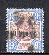 XP4598 - ZULULAND 1888 , Yvert N. 9  Usato (2380A) . - Zululand (1888-1902)