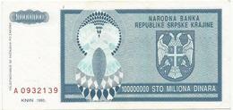 Croatia 100.000.000 Dinara 1993. P-R15 - Croatie