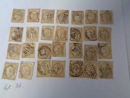 Lot N°36 , Type Cerés Dentelé III éme République  ,gros Chiffre ,28 Timbres ,n°55 , Oblitérés  Charniéres - 1871-1875 Ceres