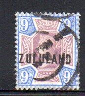 XP4599 - ZULULAND 1888 , Yvert N. 9  Usato (2380A) . - Zululand (1888-1902)