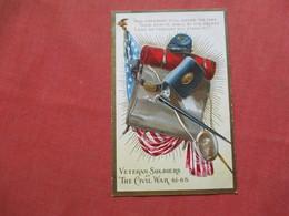 Embossed  Veteran Soldiers Of The Civil War  1861-65     Ref 3422 - Holidays & Celebrations