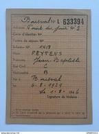 Carte De Ravitaillement 1946»GENAPPE- BOUSVAL - Documents