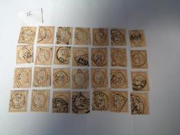 Lot N°37, Type Cerés Dentelé III éme République  ,gros Chiffre ,28 Timbres ,n°55 , Oblitérés  Charniéres - 1871-1875 Ceres