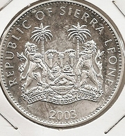 SIERRA LIONE/LEONE 10 DOLLARS 2003 28.2800 G., 0.9250 Silver MTG 10000 PROOF& RARE - Sierra Leone