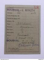 Carte De Ravitaillement 1947 «GENAPPE- BOUSVAL - Documents
