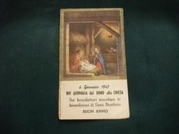 SANTINO HOLY PICTURE IMAGE SAINTE  LA SACRA FAMIGLIA 6 GENNAIO 1947 CALENDARIO - Religione & Esoterismo