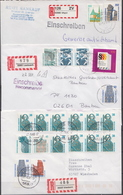 Postal History Cover: 9 Germany Covers With Landscapes Stamps, Many Different - [7] Federal Republic