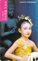FEMME - WOMAN - GIRL - - Télécarte Corée - Personen