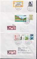 Postal History Cover: 6 Germany Covers With Landscapes Stamps, Many Different - [7] Federal Republic