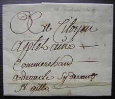 Fructidor L'An 2, Lettre De Beaucaire (Gard) Ci Devant Saint Gilles, Voir Photos - Manuscrits