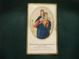 SANTINO HOLY PICTURE IMAGE SAINTE  MARIA AUSILIATRICE FEDETTO E C. PIEGHE E STRAPPO LATERALE - Religion & Esotérisme