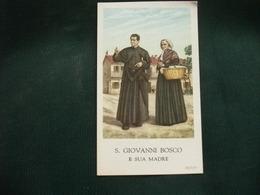 SANTINO HOLY PICTURE IMAGE SAINTE  SAN GIOVANNI BOSCO E SUA MADRE - Religion & Esotérisme