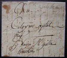 Fructidor L'An 2, Lettre De Galargues (Hérault) Au Citoyen Aptel Ci Devant Saint Gilles, Voir Photos - Manuscrits