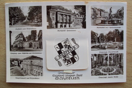 GERMANY GERMANIA POST CARD CARTOLINA DA BAYEREUTH CON FINESTRELLA DI VEDUTINE - Germania