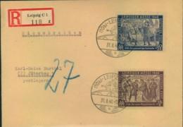"""1948, Messatz Auf Einschreiben Mit """"27"""" Pfg. Nachporto (portorichtig) - Zone Soviétique"""