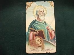 SANTINO HOLY PICTURE IMAGE SAINTE  SAN MARCO EVANGELISTA 851 - Religion & Esotérisme