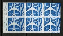 U.S.A.  Scott # C 51a** VF MINT NH MISCUT BOOKLET PANE Of 6  (LG-1136) - Errors, Freaks & Oddities (EFOs)