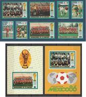 ST. VINCENT & GRENADINES (Coupe Du Monde Football Mexico 86) Série N° 459-466** + Blocs N° 14-15** - St.Vincent & Grenadines