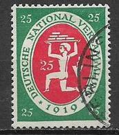 GERMANIA REICH  REP.DI WEIMAR 1919-20 ASSEMBLEA COSTITUENTE DI WEIMAR UNIF. 108 USATO VF - Germania