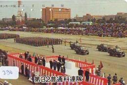 Télécarte JAPON * WAR TANK (230) MILITAIRY LEGER ARMEE PANZER Char De Guerre * KRIEG * JAPAN Phonecard Army - Army