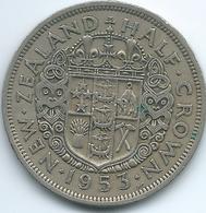 New Zealand - Elizabeth II - 1953 - ½ Crown - KM29.1 (without Shoulder Strap) - Nouvelle-Zélande