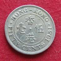 Hong Kong 50 Cents 1951 KM# 27.1 Lt 379  Hongkong - Hong Kong