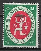 GERMANIA REICH  REP.DI WEIMAR 1919-20 ASSEMBLEA COSTITUENTE DI WEIMAR UNIF. 10 MLH VF - Germania