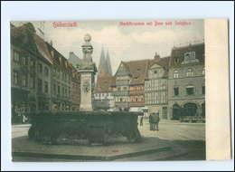 U7101-388./ Halberstadt Marktbrunnen AK Ca.1910  - Deutschland