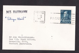 Australia: Paquebot Cover, 1976, Stamp Norway, Ship Mail M/S Havmann, Cancel Perth (traces Of Use) - Brieven En Documenten