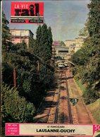La Vie Du Rail Le Funiculaire Lausanne Ouchy 1954 - Trains