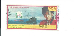 VIETNAM Billet De Loterie Bien Je Réponds à Toutes Les Questions. - Lottery Tickets