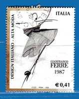 Italia °- Anno 2002 - Design Italiano - GIANFRANCO Ferrè . USATO. Unif 2678.  Vedi Descrizione - 6. 1946-.. Repubblica