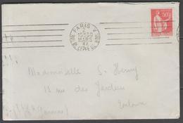 Paris (A051101W):  5 L.O. Inégales Sur LSC De 1934 - Poststempel (Briefe)